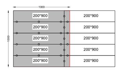 Пример выравнивания плитки